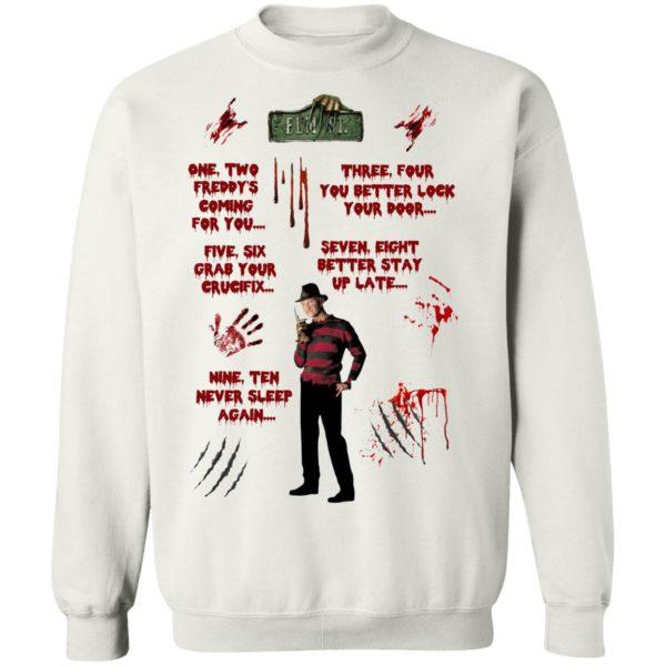 Freddy Krueger waterslides Nightmare on Elm Street Halloween shirt