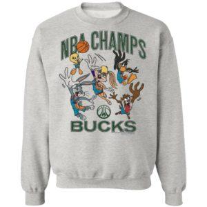 2021 NBA Finals Champions Milwaukee Bucks Homage Space Jam 2 T-Shirt