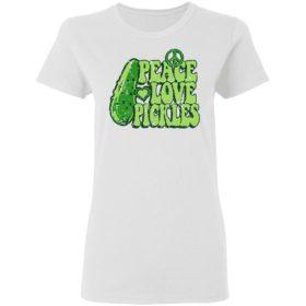 Cucumber peace love pickles shirt