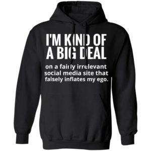 I'm kind of a big deal on a fairly irrelevant social media shirt