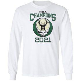 2021 NBA Champions Grateful Dead Milwaukee Bucks T-Shirt, hoodie