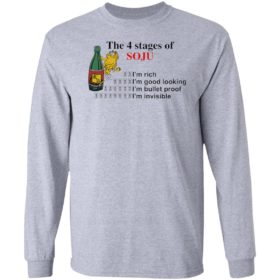 Garfield the 4 stages of soju i'm rich i'm good looking shirt