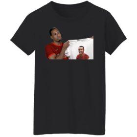 Virgil Van Dijk shows loves Joel Matip shirt