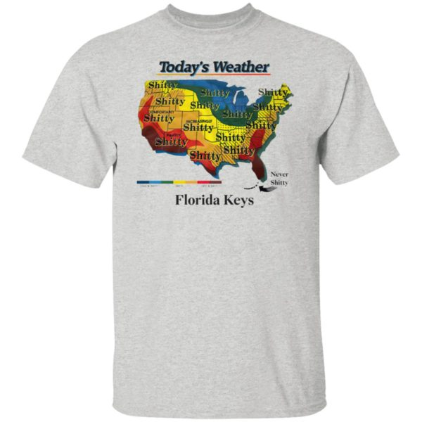 Today's weather shitty t-shirt