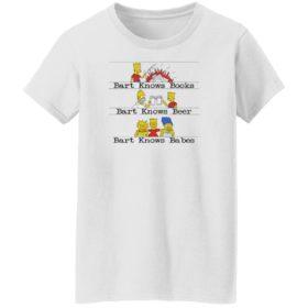 Bart Knows Books Bart Knows Beer Bart Knows Babes Shirt