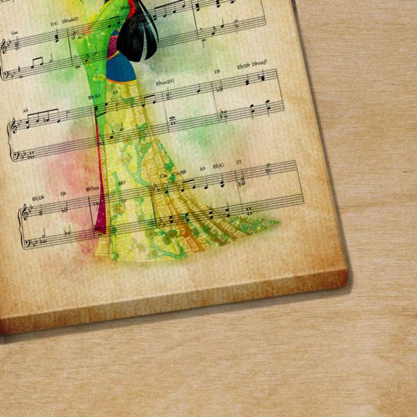 Mulan Reflection Sheet Music Art Print Poster Canvas