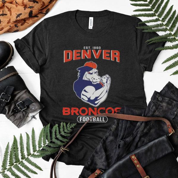 Awesome Est 1960 Denver Broncos Football Shirt, ls, hoodie