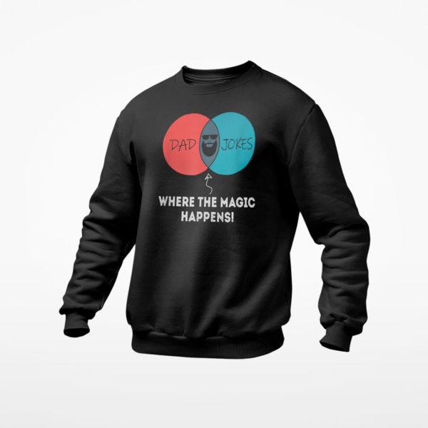 Dad Jokes Where The Magic Happens Shirt, ls, hoodie