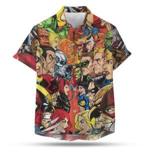 DC vs Marvel Hawaiian Shirt, shorts