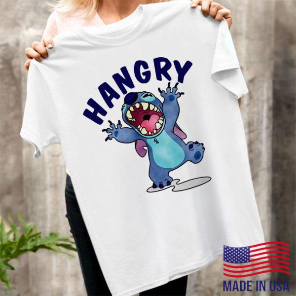 Stitch hangry shirt, ls, hoodie