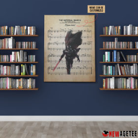 Personalized Star Wars Darth Vader The Imperial March Sheet Music Poster Canvas
