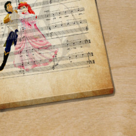 Prince Eric The Litte Mermaid Her Voice Sheet Music Poster Canvas