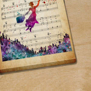 Marry Poppins Feed The Birds Sheet Music Poster Canvas