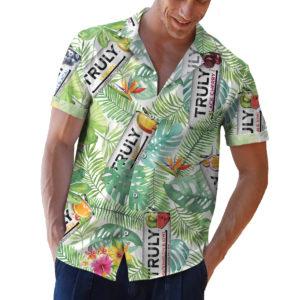 Truly Hard Seltzer Hawaiian Shirt, Beach Shorts
