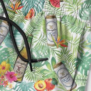 Yuengling Light Lager Beer Hawaiian Shirt, Tropical Beach Shorts