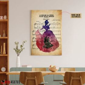 Cinderella A Dream Is A Wish Your Heart Makes Sheet Music Poster Canvas