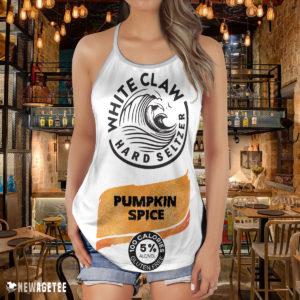Pumpkin Spice White Claw Glitter Costume Criss Cross Tank Top