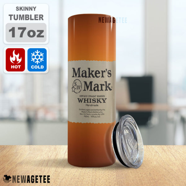 Maker's Mark Bourbon Whiskey Skinny Tumbler 20oz 30oz