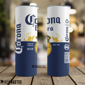 Corona Extra Beer Made in Mexico Skinny Tumbler Stainless Steel 20oz 30oz