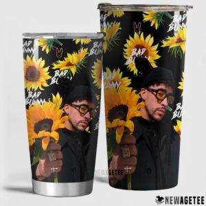 Bad Bunny Sunflower Skinny Tumbler Stainless Steel 20oz 30oz