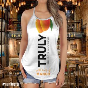 TRULY Can Mango Hard Seltzer Costume Criss Cross Tank Top