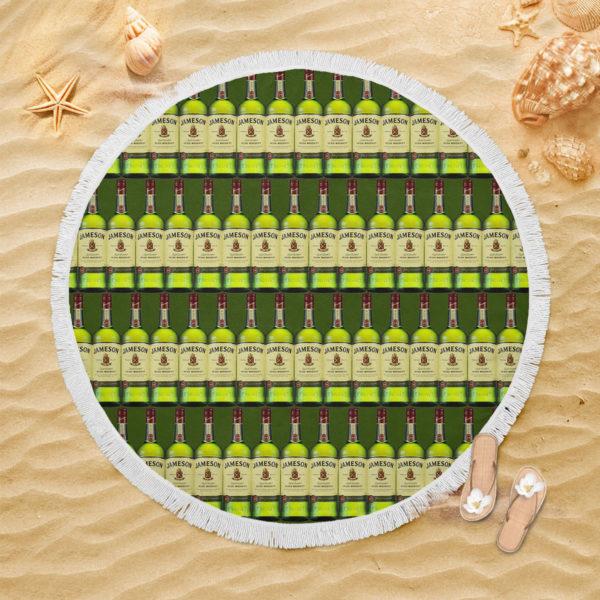 Jameson Irish Whiskey Round Beach Towel