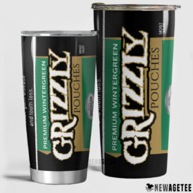 Grizzly Wintergreen Pouches Skinny Tumbler 20oz 30oz