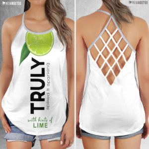 TRULY Can Lime Hard Seltzer Costume Criss Cross Tank Top