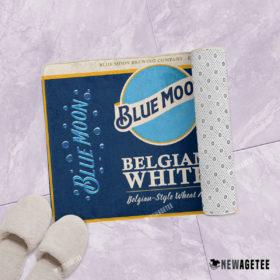 Blue Moon Beer Belgian White Bath Mat