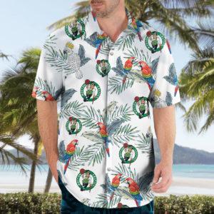 Boston Celtics Hawaiian Shirt, Beach Shorts for Men