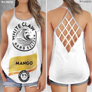Mango White Claw Glitter Costume Criss Cross Tank Top