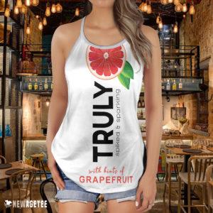 TRULY Can Grapefruit Hard Seltzer Costume Criss Cross Tank Top