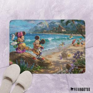 Mickey and Minnie in Hawaii Bath mat