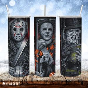 Freddy Jason Horror Movies Skinny Tumbler