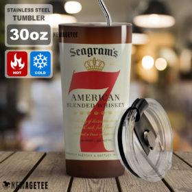 Seagram's 7 Crown American Whiskey Skinny Tumbler 20oz 30oz