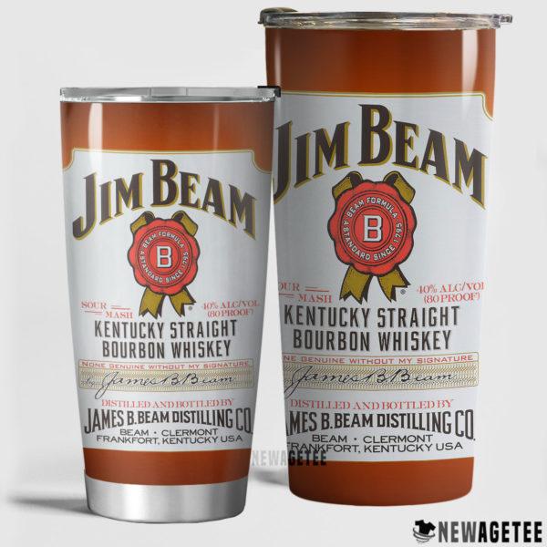 Jim Beam White Label Whiskey Skinny Tumbler 20oz 30oz