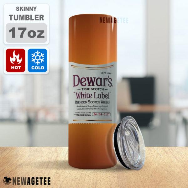 Dewar's Scotch Whiskey White Label Skinny Tumbler 20oz 30oz