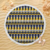 Corona Extra Beer Round Beach Towel