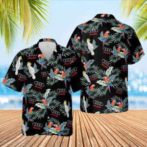 Audi Hawaiian Shirt, Beach Shorts for Men