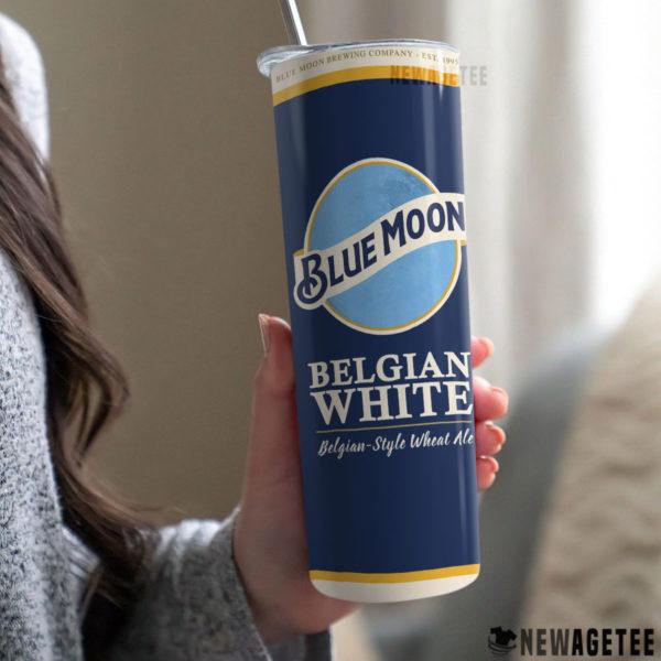 Blue Moon Beer Belgian White Skinny Tumbler 30oz 20oz
