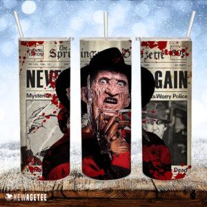Freddy Krueger Tumbler Nightmare on Elm Skinny Tumbler