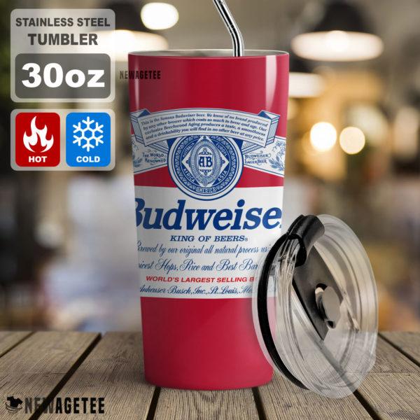 Budweiser Beer Tumbler Skinny 30oz 20oz