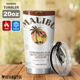 Malibu Liqueur Skinny Tumbler Stainless Steel 20oz 30oz