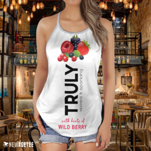 TRULY Can Wild Berry Hard Seltzer Costume Criss Cross Tank Top