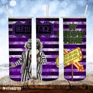 Beetlejuice It's Showtime Skinny Tumbler