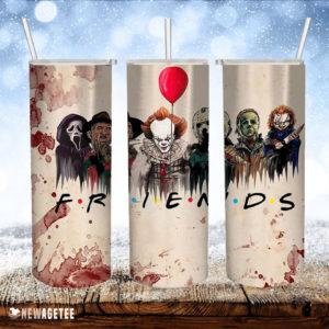 Friends Horror Characters Skinny Tumbler