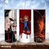 Jigsaw Chucky Peeping Tommy Horror Movies Skinny Tumbler