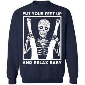 Skeleton Put Your Feet Up And Relax Baby Shirt