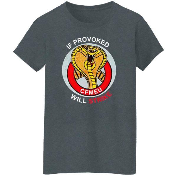 If Provoked Will Strike Cfmeu Shirt