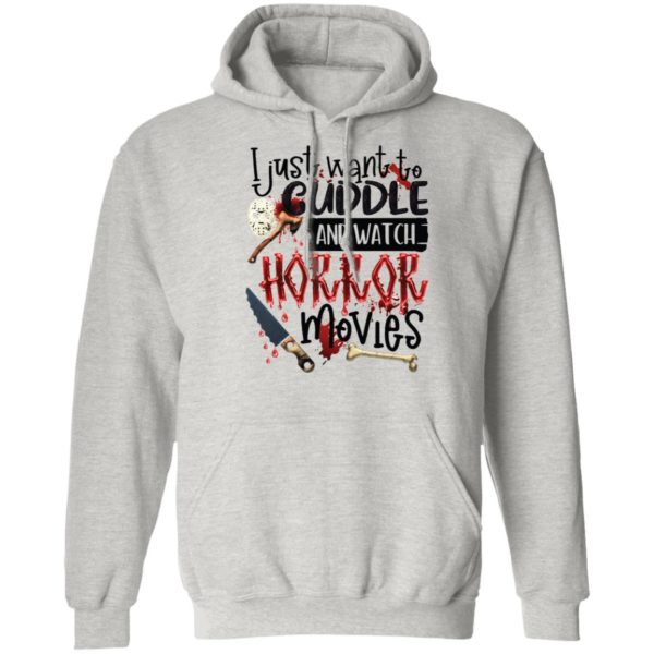 Hocus Pocus I Just Want To Cuddle And Watch Horror Movies Shirt